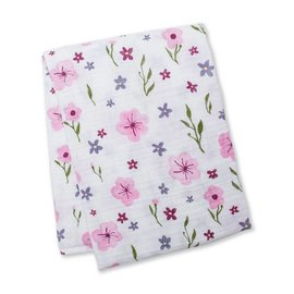 Lulujo Lovely Floral Cotton Muslin Swaddle
