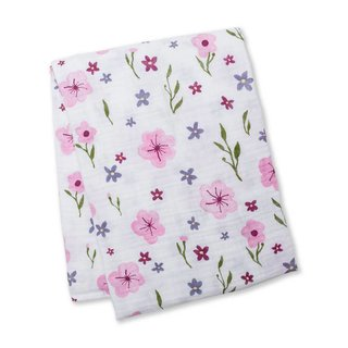 Lovely Floral Cotton Muslin Swaddle