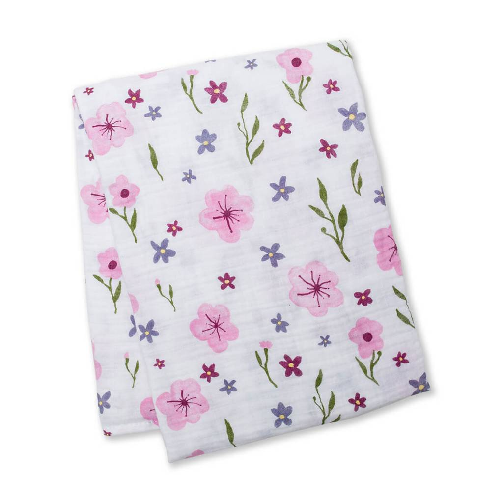 Lovely Floral Cotton Muslin Swaddle - Sweetpea Wholesome Baby 27b42b82f