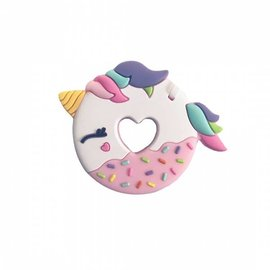 Loulou Lollipop Pink Unicorn Donut Teether Single