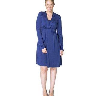 Deep Blue Nursing Dress, ABIGAIL