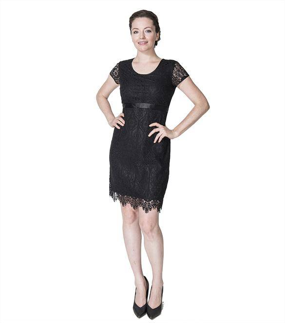 b873d0ddee Momzelle Black Nursing Dress