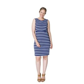Momzelle Blue Nursing Dress, MEGAN