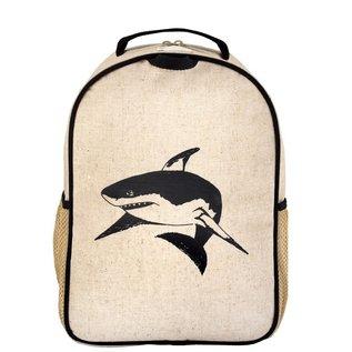 SoYoung Black Shark Raw Linen Toddler Backpack