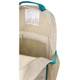 SoYoung Aqua Bunny Raw Linen Toddler Backpack