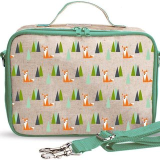 Olive Fox Raw Linen Lunchbox