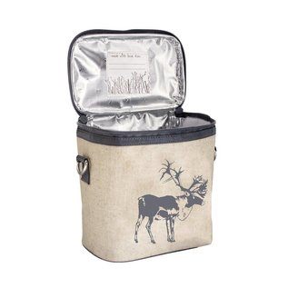 SoYoung Grey Moose Raw Linen Large Cooler Bag