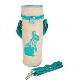 SoYoung Aqua Bunny Raw Linen Water Bottle Bag