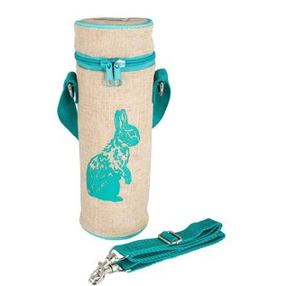 SoYoung Aqua Bunny Raw Linen Water Bottle Bag