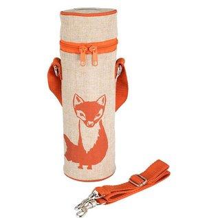 SoYoung Orange Fox Raw Linen Water Bottle Bag