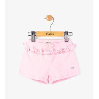 Hatley Pink Daisy Ruffle Mini-Shorts