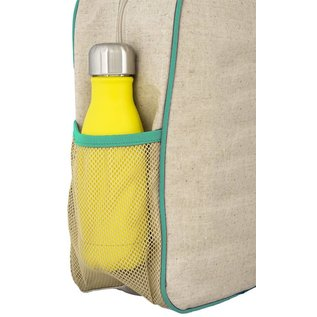 SoYoung Olive Fox Raw Linen Gradeschool Backpack