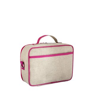 SoYoung Pink Fawn Raw Linen Lunchbox