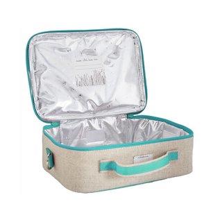 SoYoung Aqua Seahorse Raw Linen Lunchbox
