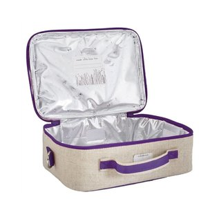 SoYoung Purple Dandelion Raw Linen Lunchbox