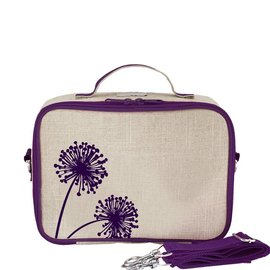 SoYoung Purple Dandelion Raw Linen Lunchbox