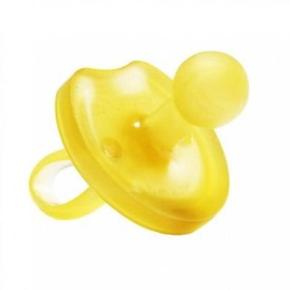 All-Natural Rubber Pacifier, Round, Butterfly-Cut