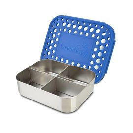 Lunchbots Royal Blue Quad Stainless Bento Lunch Box