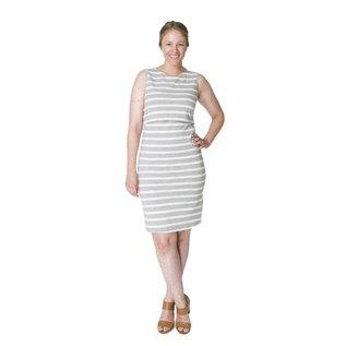 Momzelle Grey Nursing Dress, MEGAN