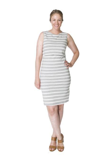 e49adca651 Momzelle Grey Nursing Dress