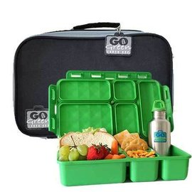Go Green Black Stallion Leakproof Lunchbox Set