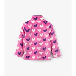 Hatley Multi Hearts Fuzzy Fleece Zip Up