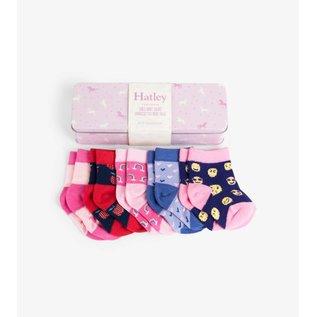 Hatley Prancing Unicorns Baby Crew Socks Gift Tin