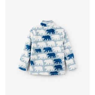 Hatley Polar Bear Silhouettes Fuzzy Fleece Zip Up