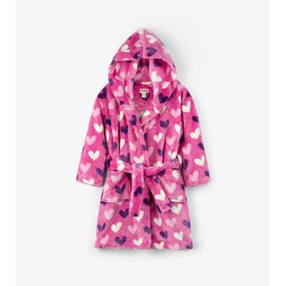 Hatley Multi Hearts Fleece Robe