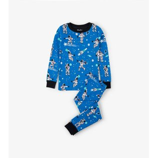 Hatley Organic Athletic Astronauts Glow PJ Set