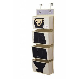 3 Sprouts Black Bear Hanging Wall Organizer