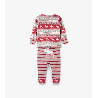 Hatley Fair Isle Moose Organic Cotton Baby PJ Set