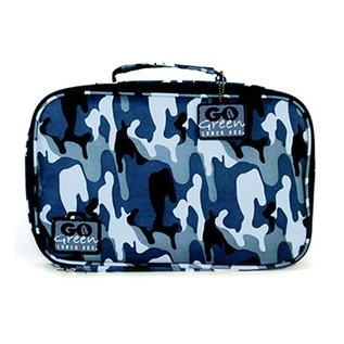 Go Green Blue Camo Leakproof Lunchbox Set