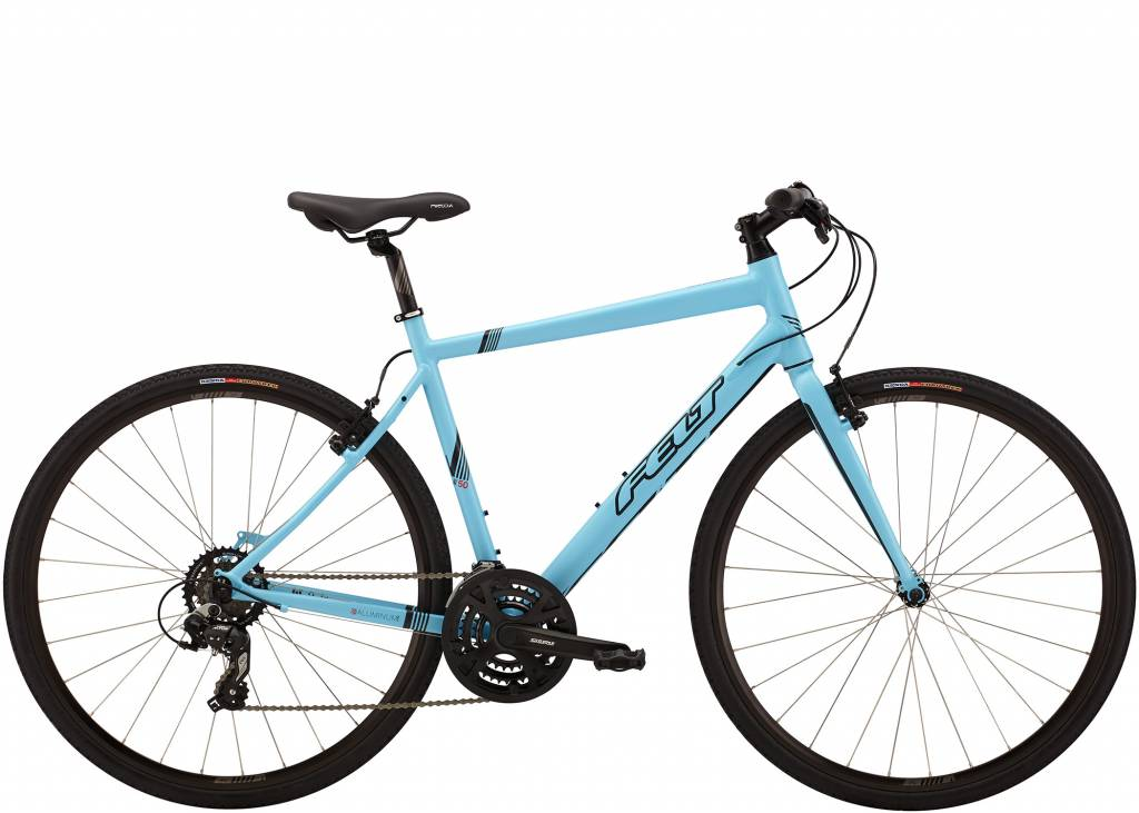 Felt Felt Bicycles Mens Verza Speed 50 Matte Glacier Blue (Black)