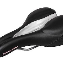Planet Bike Mens Standard Anatomic Gel Saddle, Black