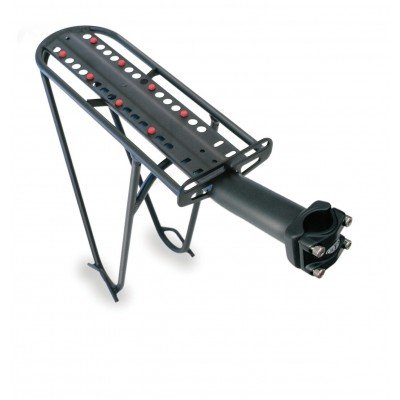 Delta Delta, Post Porter Rack Black Welded Pannier Supports Fits Any Seatpost