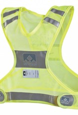 Nathan Nathan Reflective Streak Vest: SM/MD, Neon Yellow