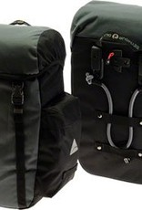 Axiom Axiom Seymour DLX 30 Liter Pannier Set: Black/Gray