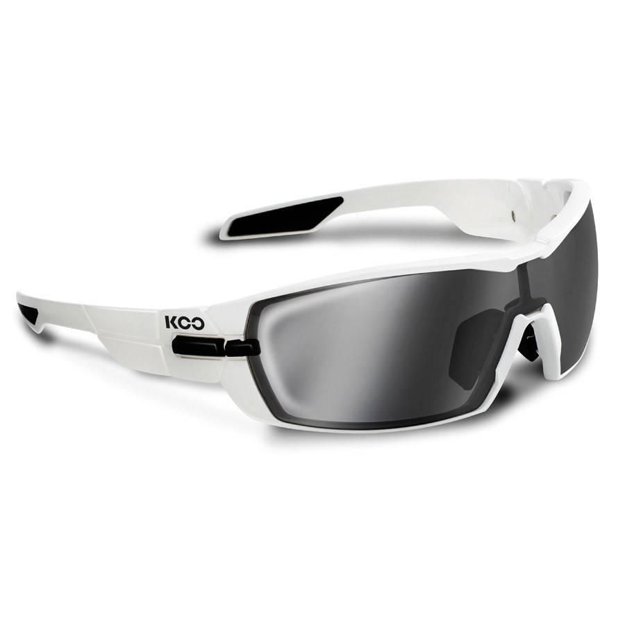Kask KOO Open Sunglasses White w/ Smoke Mirror Lens