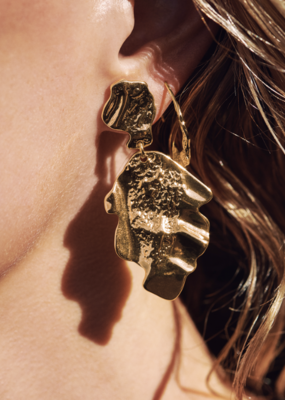 Valkyria Gold Statement Earrings