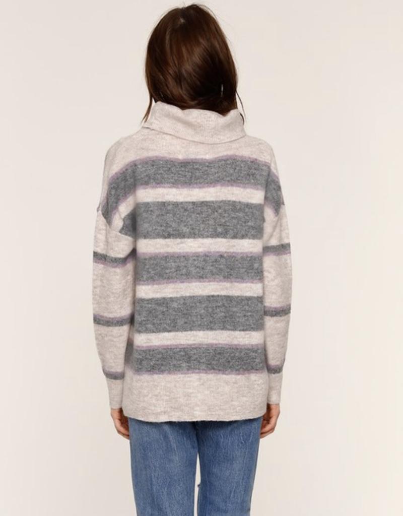 Portia Cowl Neck Stripe