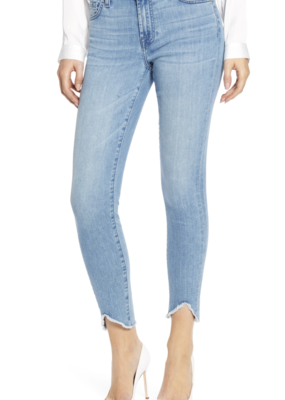 7 for All Mankind Ankle Skinny with Waive Hem in Constellation