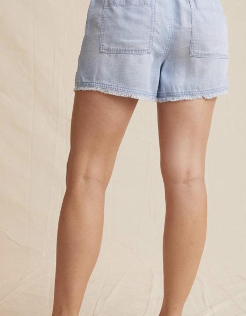 Frayed pocket short