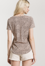 MINI LEOPARD V-NECK TEE