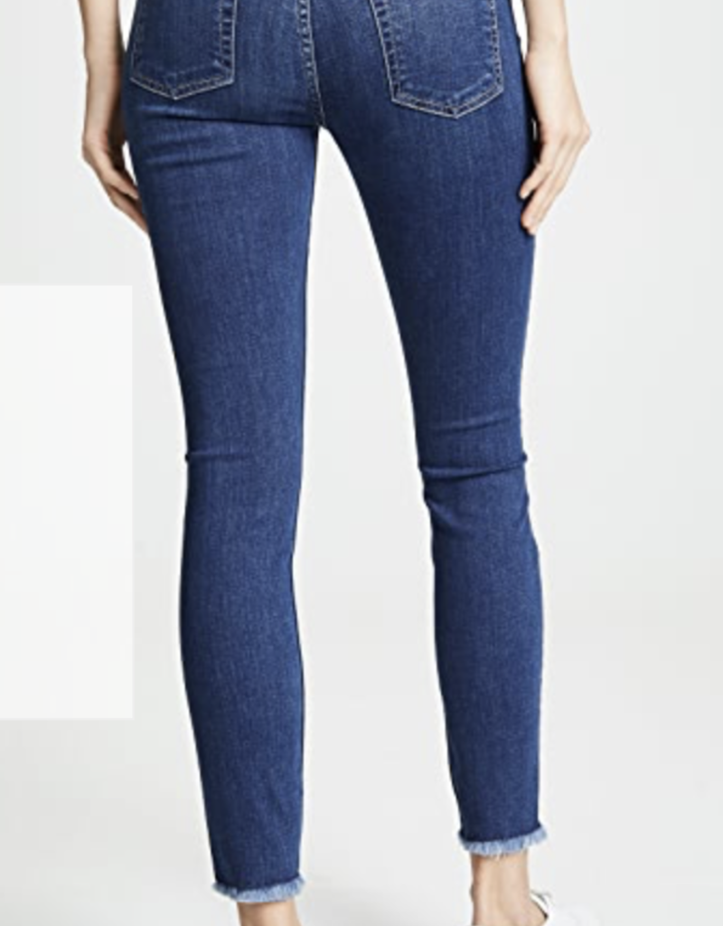 7 for All Mankind Ankle Skinny Jeans with Raw Hem