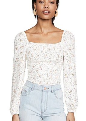 Ditsy Smocked Top