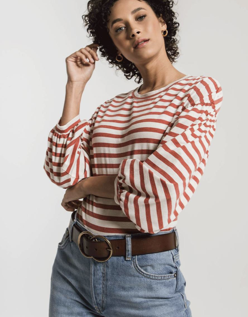 CANYON STRIPE PEASANT TEE