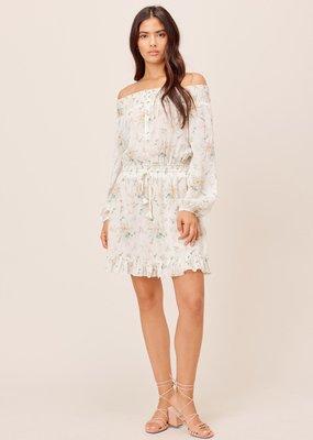 Smocked off shoulder dress
