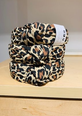FF Knotted Headband Leopard