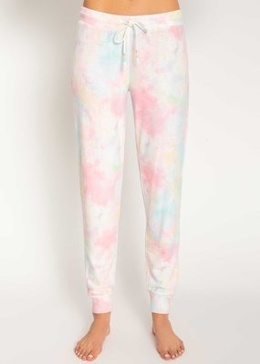 Rainbow Lounge Banded Pant Tie Dye
